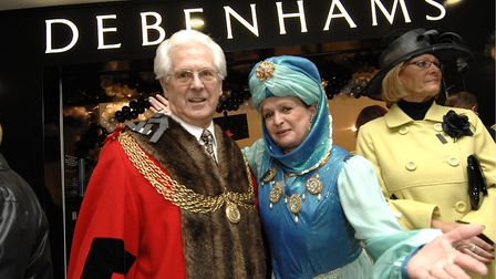 Flashback: A new branch of Debenhams opens in Yarmouth. This picture shows the Mayor of Great Yarmou
