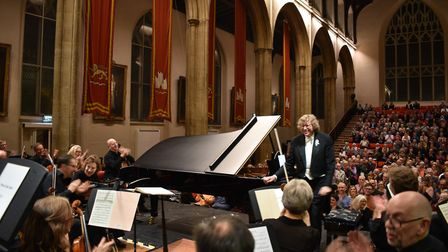 Soloist Piers Lane performing with The Academy of St Thomas at St Andrews Hall. Picture: Chrissie Ow