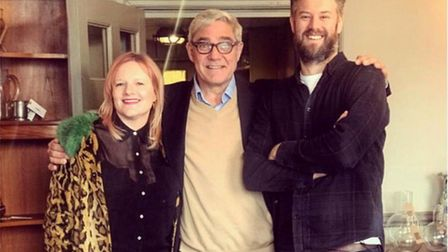 Hannah and Andrew with Dominic Parker from Goggle Box and The Great Hotel Escape. Photo: Hannah Spri