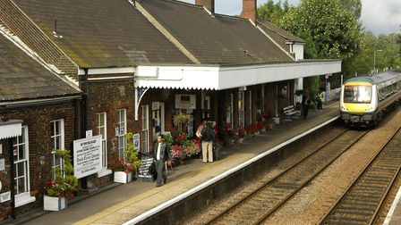 Picture of Wymondham station which has been nominated for Best Overall Station in the Anglia in Blo