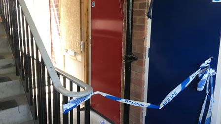 The flat at Dolphin Grove where James Greene was fatally injured. Photo: Luke Powell