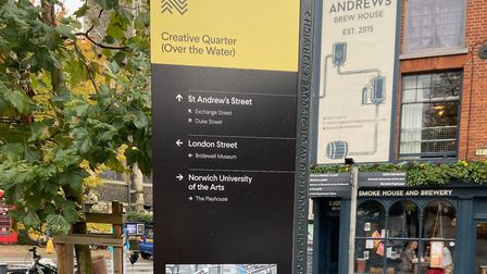 The newly designed totem poles will give people top tips around Norwich. Picture: Norwich BID