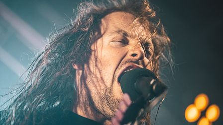 Airbourne headlining The Nick Rayns LCR, UEA in Norwich on 13th November 2019. Picture: Daniel Smith