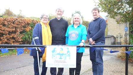 L-R Kathryn Skoiles, Rev'd Selwin Tellet, Sarah Patey and Adam Berry at the first meeting of Norwich