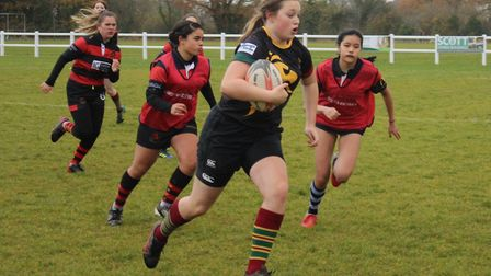 The Wymondham Wasps played at their club which was attended by Miss Social Media GB Danielle Evans w