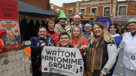 Scenes at Watton's festive Christmas market and fun run 2019. Photo: Sue Dent