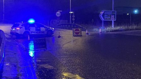 Police are appealing after a pedestrian was found injured on the A47. PIC: Great Yarmouth Police Twi
