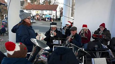 Hundreds gathered for the Swaffham Christmas Lights switch-on. Picture: Swaffham Town Council