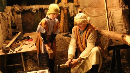 Scenes from Christmas Alive, the interactive nativity experience to remind families of the true mean