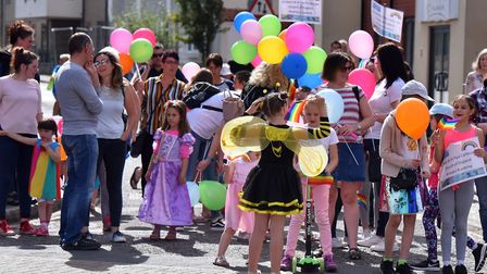 Watton town centre was transformed for the carnival in 2019. Picture: Jamie Honeywood