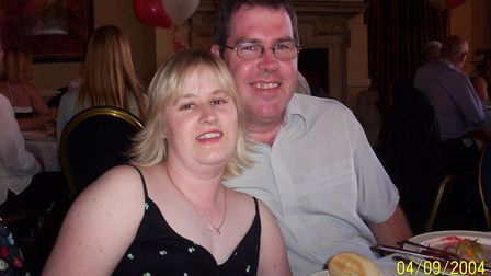 Mark and Sarah in 2004. They'd met in 1999 at a leaving party at Chicago's nightclub in Norwich. Mar