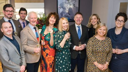 The Dipple & Conway team at the newly refurbished branch in Swaffham. Picture: Ian Burt