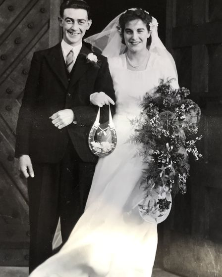 Jack and Pauline Hamment on their wedding day. Picture: Victoria Pertusa