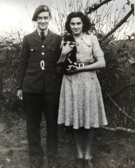 Jack and Pauline Hamment on their days as a young couple. Picture: Victoria Pertusa
