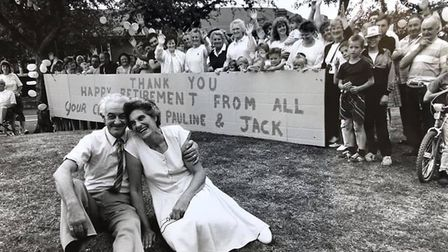 Pauline and Jack Hamment upon retiring in 1989. Picture: Archant