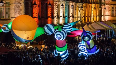 Picto Facto's cheeky and captivating figures the Lampadophores will be part of the Valentine's Parad