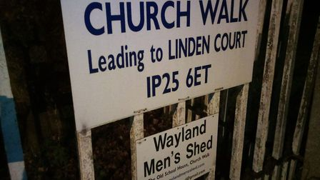 Watton Beat Manager PC Austin carried out reassurance patrols in Church Walk. Photo: Breckland Polic
