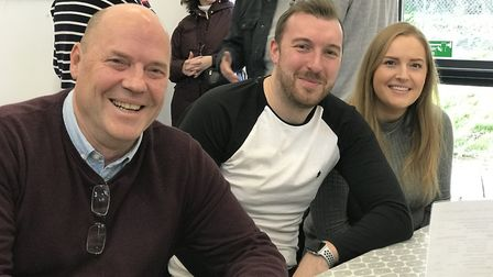 From left to right: Chairman of the project Matt Torode, Jordan Grass and Harriet Torode at the open