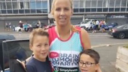 Abigail Mutimer ran the Great North Run and raised over £600 for Brain Tumour charities. Picture: Ab