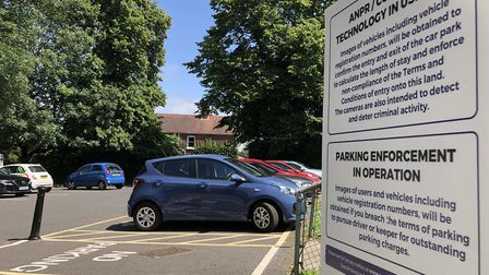 The private car park at Earlham House on Earlham Road in Norwich which is the cause of controversy o