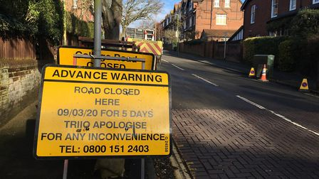 College Road has been closed. Pic: Dan Grimmer.