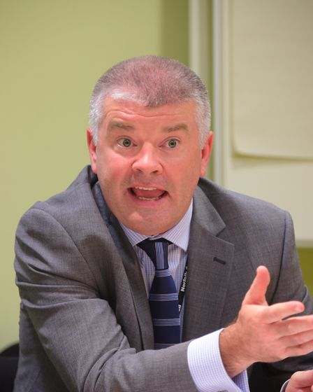 Norfolk County Council's head of paid service Tom McCabe. Picture by SIMON FINLAY.