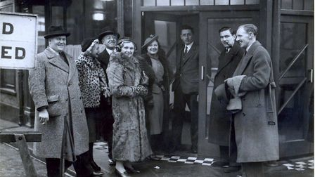 Opening of the Cloverleaf Cafe in St Giles Street, Norwich, January 5, 1938. Some of the earliest cus
