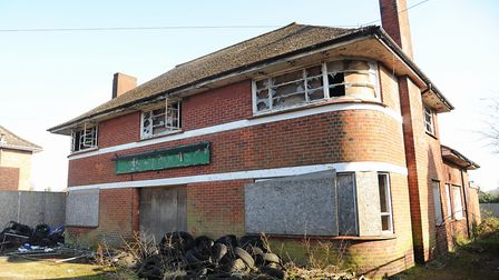 The derelict Kings Arms pub at Mile Cross Road before it was demolished in 2015. Picture: Denise Bra