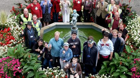Terry Bane picture with Norwich in Bloom volunteers. Picture: Terry Bane