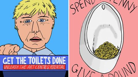 Norwich Arts Centre have launched their Get the Toilets Done campaign. Picture: Liam Clark