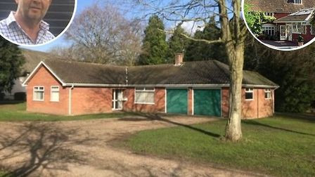 A bungalow on the Weston Hall estate which is set to be demolished. Inset: Andre Serruys. Picture: A