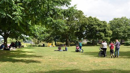Norwich Castle Gardens, where a robbery took place on January 12 Picture: DENISE BRADLEY