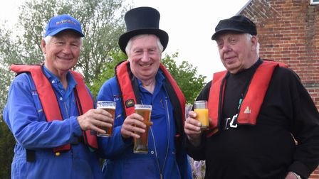 City of Ale 2019: The crew from the Victorian steam boat from the Museum of the Broads, from left, B
