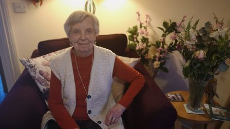 Iris Walker, 86, said the walk to the other bus stop on Dereham Road was difficult for her. Picture: