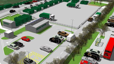 How the £1.9m new recycling centre next to Harford park-and-ride could look. Picture: Norfolk County