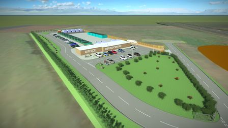 How the new recycling centre on the edge of the NDR in north Norwich could look. Picture: Norfolk Co