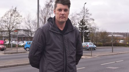 Costessey Town Council member Gary Blundell who is calling for safety improvements on William Frost
