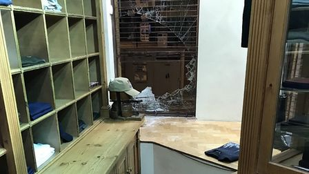 Picture of damage after burglary at Jonathan Trumbull. PIC: Supplied by Neil Harris.