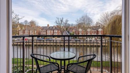A townhouse with river views is on the market in Norwich. Photo: William H Brown Select