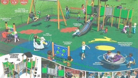 Designs for the new under eights playground at Bridle Road in Watton. Photo: Watton Town Council