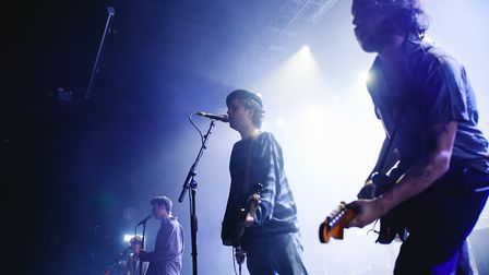 Fontaines D.C. headlining The LCR, UEA in Norwich on 24th February 2020. Picture: Steve Hunt