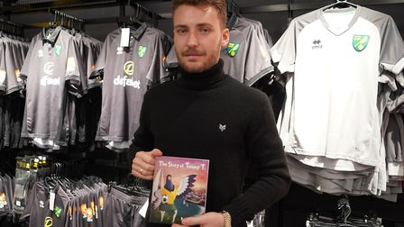 Norwich City midfielder Tom Trybull and his wife Anna at the book signing of her new book 'The Story