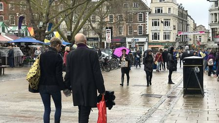 Norwich's high street is still busy even with the Coronavirus pandemic. Picture: Victoria Pertusa
