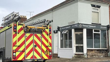 An electrical fire broke out at Forever Enhanced beauty salon on Knowlsey Road. Picture: Ella Wilkin