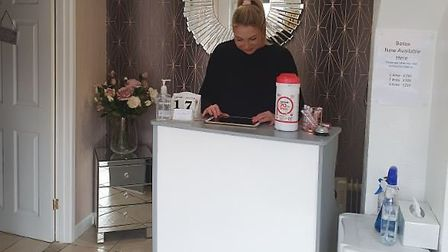Ms Gard said customers commented the salon looked better than before. Picture: Charlene Gard