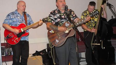 Mark Page performed in several bands focussing on rockabilly music. Picture: Steven Gigli