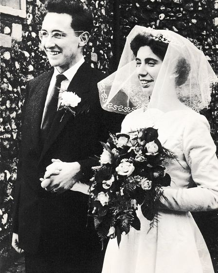 Mike and Pauline Chapman got married at St Augustine's Church in Norwich in 1960. Photo: Mike Chapma
