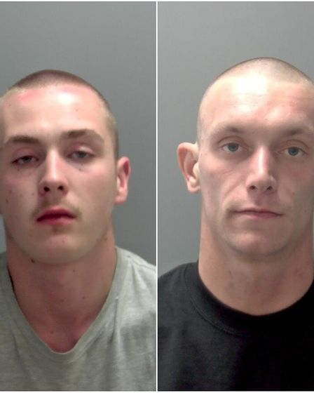 Kallum Eastall, left and Jake Brittain, right, were jailed over the shooting in West End Gardens. Pi