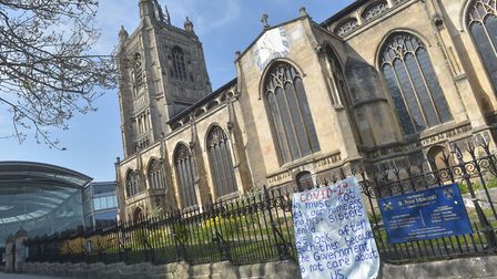 Norwich on COVID19 Lock Down Easter 2020. St Peter Mancroft Pictures: BRITTANY WOODMAN