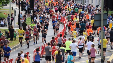 Runners taking part in the 10k Run Norwich 2019 event. Picture: DENISE BRADLEY